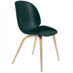 Gubi Beetle Chair Unupholstered Shell Wood Base