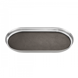 Georg Jensen Manhattan Tray With Leather