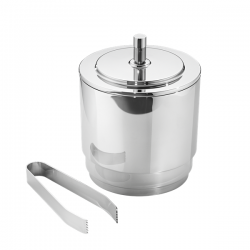Georg Jensen Manhattan Ice Bucket with tongs