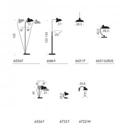 Lightyears Kaiser idell 6556 T Table Lamp