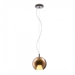Fabbian Beluga Royal Pendant Lamp Copper