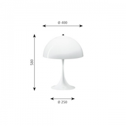 Louis Poulsen Panthella Table Lamp