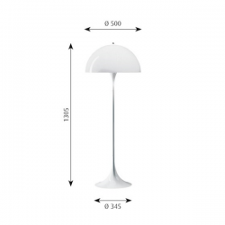 Louis Poulsen Panthella Floor Lamp