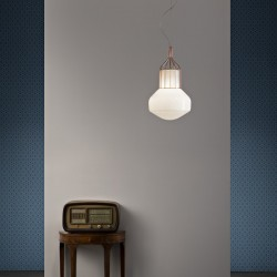 Fabbian Aèrostat Suspension Lamp With metal base
