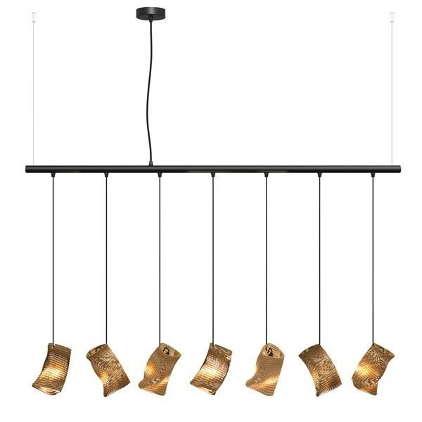 Graypants Murmurations Moa Linear 7 Pendant Lamps