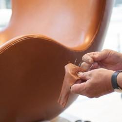 Fritz Hansen Egg Lounge Chair Leather
