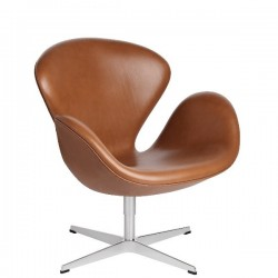 Fritz Hansen Swan Lounge Chair Leather