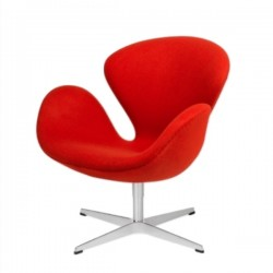 Fritz Hansen Swan Lounge Chair Divina, Red 623