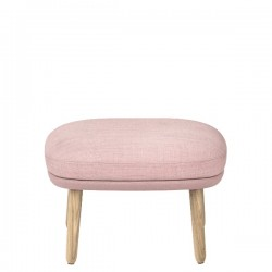 Fritz Hansen Ro Footstool Wooden Base