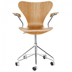 Fritz Hansen Series 7 Office Armchair Cleared Lacquer (beech)