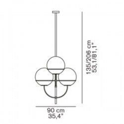 Oluce Lyndon Suspension Lamp 450