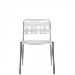 Kartell Audrey Chair White Painted Aluminium