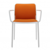 Kartell Audrey Soft Chair Orange White Painted Aluminium