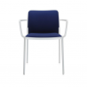 Kartell Audrey Soft Chair Blue White Painted Aluminium
