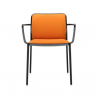 Kartell Audrey Soft Chair Orange Black Painted Aluminium