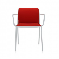 Kartell Audrey Soft Chair Red White Painted Aluminium