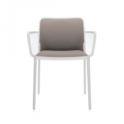 Kartell Audrey Soft Chair Beige White Painted Aluminium
