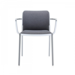 Kartell Audrey Soft Chair Grey Painted Aluminium