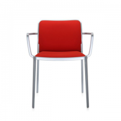 Kartell Audrey Soft Chair Red Painted Aluminium