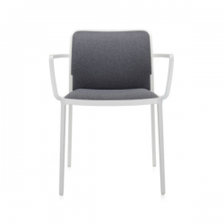 Kartell Audrey Soft Chair Grey White Painted Aluminium