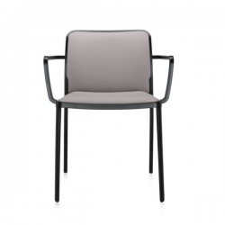 Kartell Audrey Soft Chair Beige Black Painted Aluminium