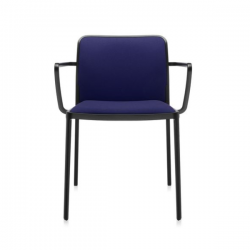 Kartell Audrey Soft Chair Blue Black Painted Aluminium