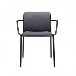 Kartell Audrey Soft Chair Grey Black Painted Aluminium