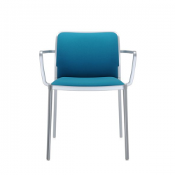 Kartell Audrey Soft Chair Teal Painted Aluminium