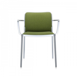 Kartell Audrey Soft Chair Acid Green Painted Aluminium