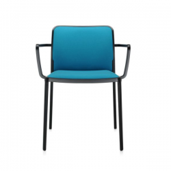 Kartell Audrey Soft Chair Teal Black Painted Aluminium