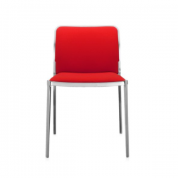 Kartell Audrey Soft Chair Red Polished Aluminium