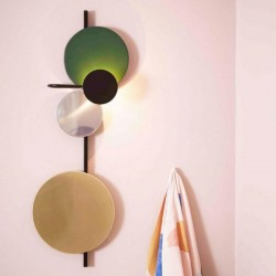PLEASE  WAIT to be SEATED Planet Wall Lamp Green