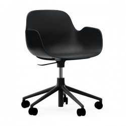 Normann Copenhagen Form Swivel Armchair with Castors