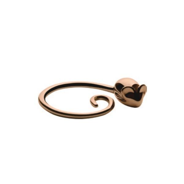Alessi Pip Key Ring Golden Pink