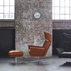 Fritz Hansen Oksen Lounge Chair and footstool