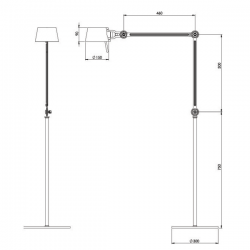 Tonone Bolt Floor - Double Lamp