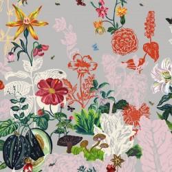 Domestic Wallpaper Jardin Grey