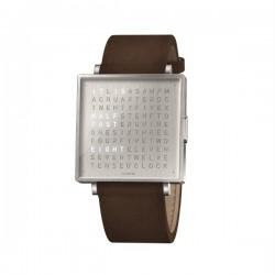 Biegert & Funk QLOCKTWO W39 Stee Leather Vintage Brown