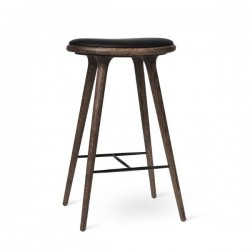 Mater High Stool Dark Stained Oak 74cm