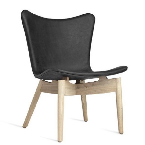 Mater Shell Lounge Chair   Dunes Anthracite Black