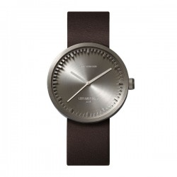 LEFF amsterdam Tube Watch D38 – Steel with brown leather strap