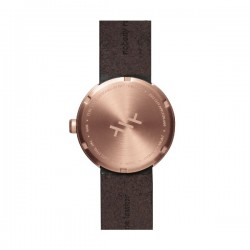 LEFF amsterdam Tube Watch D38 – rose gold with browm leather strap