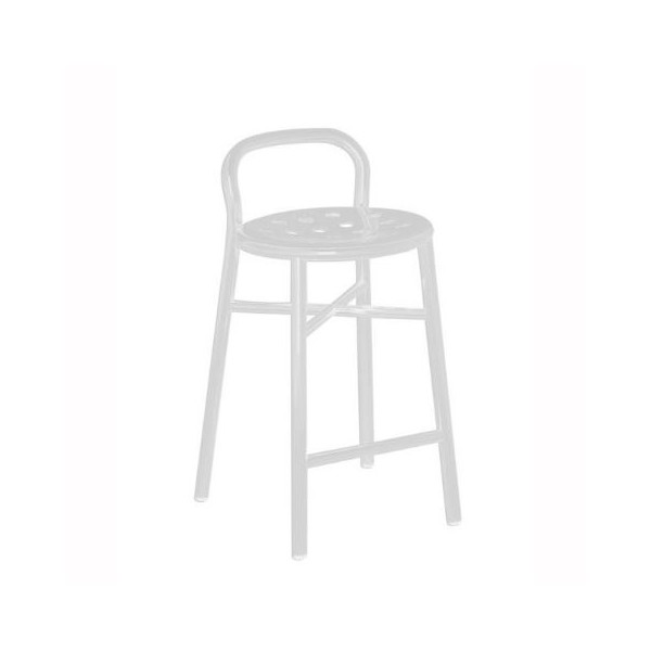 Magis Pipe Stool Frame and seat white