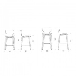 Mobles 114 Gracia Wood Barstool