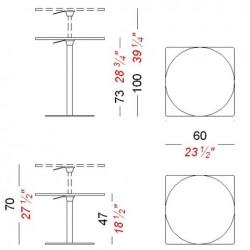 Lapalma Brio Table Adjustable Height