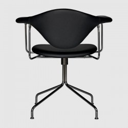 Gubi Masculo Meeting Chair - Fully Upholstered - Swivel base