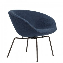 Fritz Hansen Pot Lounge Chair, fabric, dark brown coated base