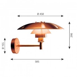 Louis Poulsen PH Wall Lamp (outdoor)