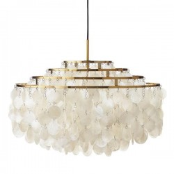 Verpan Fun 10DM Pendant Light With Brass Finish