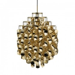 Verpan Spiral SP01 Gold Pendant Light